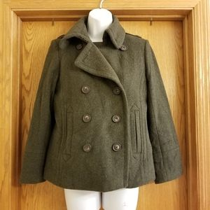 J Crew Wool Double Breasted Pea Coat PM